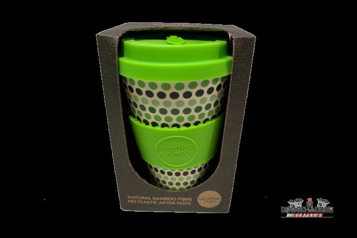 Green Polka Ecoffeecup 14oz