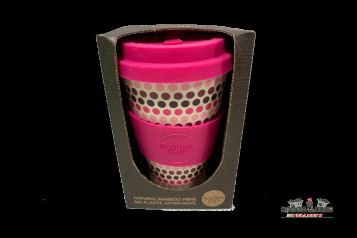 Pink Polka Ecoffeecup 14oz